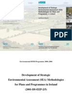 EPA Development Methodology SEA Synthesis Report