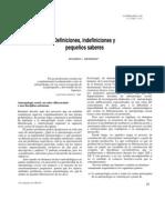 Definiciones, indefiniciones y pequeños saberes  Eduardo L. Menendez