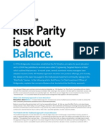 Risk Parity is About Balance
