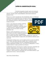 TOMADA DE  DECISÕES NA ADMINISTRAÇÃO RURAL               KLEISON JHONIFER