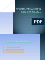 Sistem Pemerintahan Desa Dan Kecamatan 2