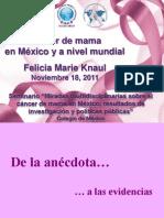 Perspectivas del cáncer en México y a nivel mundial 181111