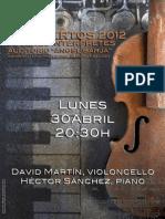 DAVID MARTIN, VIOLONCELLO - JÓVENES INTÉRPRETES 2012