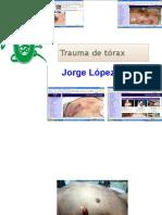 Trauma de tórax jorge López