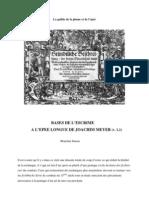 Bases de Lescrime a Lepee Longue de Joachim Meyer
