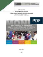 Informe Indicadores PAN _180111