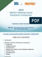 2010 Malcolm Baldrige Award Recipients Comparison