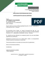 Proceso de responsabilidad fiscal contra el ex alcalde Luis Ernesto Vélez Madrid