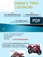 Categorias y Tipos de Licencias