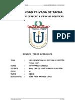 AVANCE DE LA TAREA ACADEMICA - INFORMATICA JURIDICA