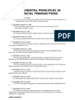 Fundamental Principles in Financial Transactions
