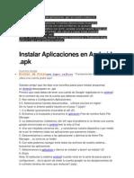 Manual cómo instalar las aplicaciones  ANFROID