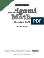Origami Math