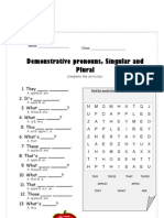 Singular Plural Gap Fills