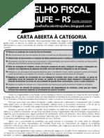 Carta Aberta à Categoria - Conselho Fiscal Sintrajufe-RS - ABRIL 2012