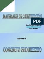 CONCRETO ENDURECIDO
