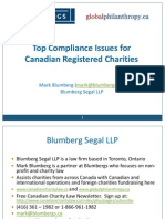 Top Compliance Issues for Canadian Registered Charities - Mark Blumberg