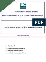Tema 7. Analisis Tecnico de Titulos de Renta Variable