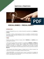 Webquest. Realismo e Idealismo