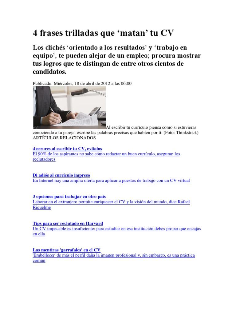Famoso Verbos De Acción Para Currículum Harvard Friso - Ejemplo De ...
