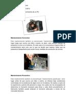 Tipos de Mantenimiento de Un PC