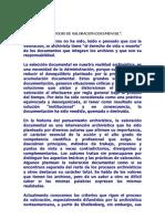 """""""EL PROCESO DE VALORACIÓN DOCUMENTAL""""."""