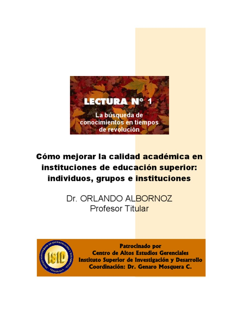 LibroCalidadAcademicaVol1[1] | Ideologies | Knowledge