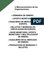 Demanda de Dinero, Oferta Monetaria y Equilibrio de Mercado en Europa.