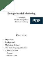 Entrepreneurial Marketing UT TedFinch