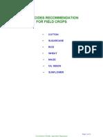 Pesticide Recom Crop