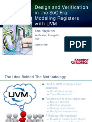 Modeling Registers With Uvm Tom Fitzpatrick | Application