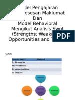 Model Pengajaran Pemprosesan Maklumat Dan