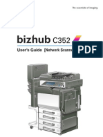 Bizhub c352 Network Scan Operations