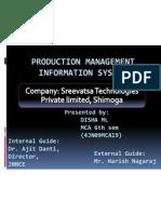 Production Management Information System