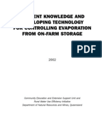 DPI Qld Technologies to Reduce Evaporation