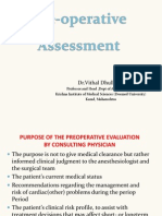 Pre Anesthetic Evaluation