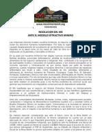 Comunicado del Movimiento Mesoamericano contra el Modelo extractivo Minero (M4)