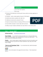 Office 2007 Reference Sheet With Training Links