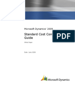 Standard Cost Conversion Guide - Microsoft Dynamics AX 2009 - White Paper