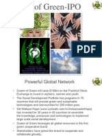 Queen of Green -IPO Sponsorship May and June 2012