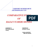 19013553 Bajaj vs Hero Honda Project Report