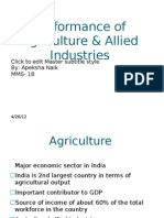 Performance of Agriculture & Allied Industries