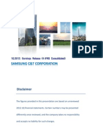 Samsung C&T 1Q2012 Earnings Release