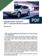Hyundai Motor.ir Presentation 2012_1Q_eng