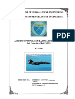 Propulsion Laboraory Manual DSCE 06AEL68