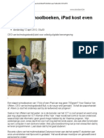Weg Met Schoolboeken iPad Kost Evenveel
