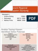 Identifikasi Sektor Potensial Tipologi Klasen