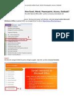 Ghid de Accesare a Cursurilor Online Microsoft Excel, Word, Power Point, Access, Outlook (en)