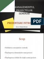 Managementul Proiectelor General 2011