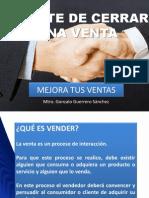CIERRE DE VENTAS